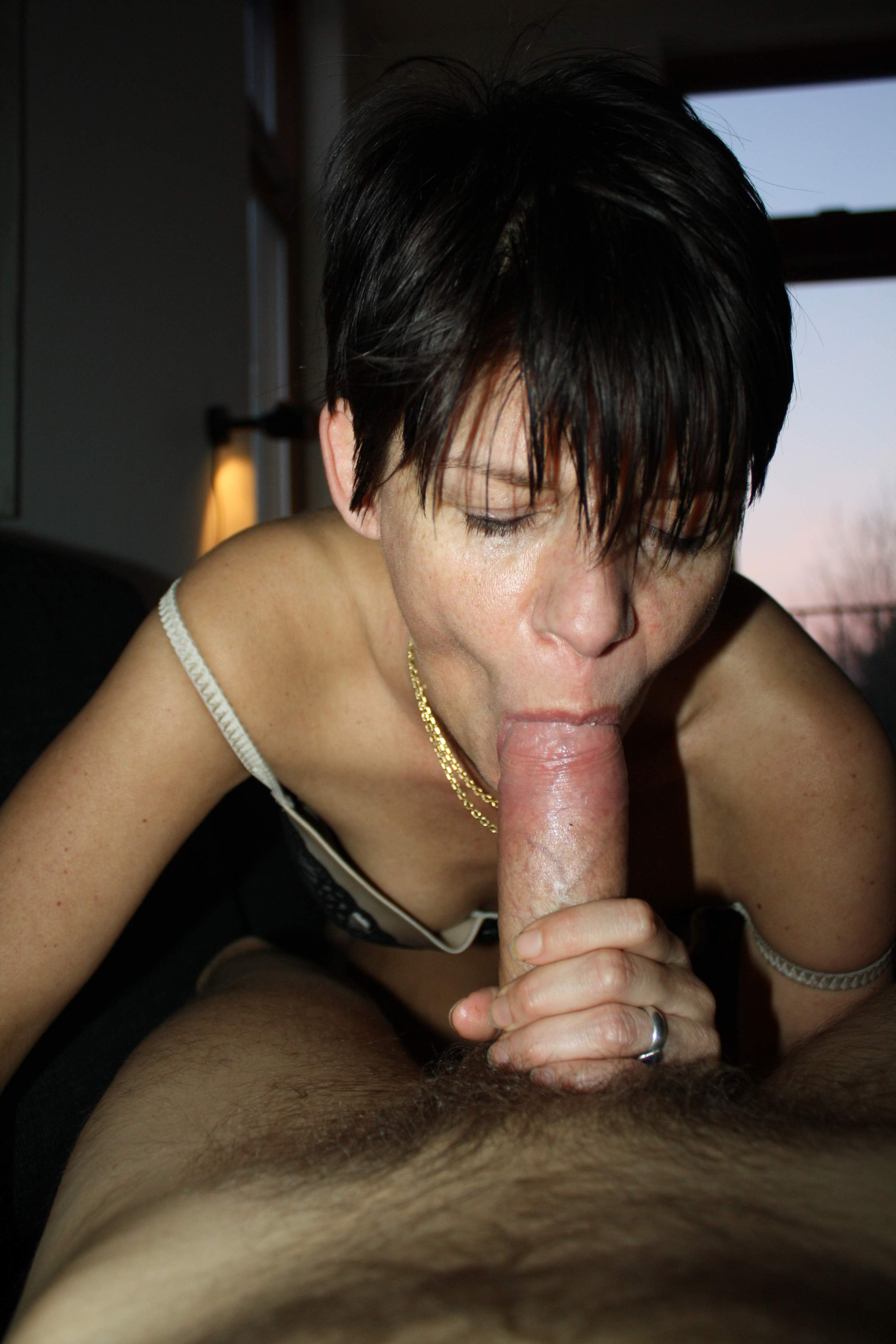 Wife and stranger in public nude