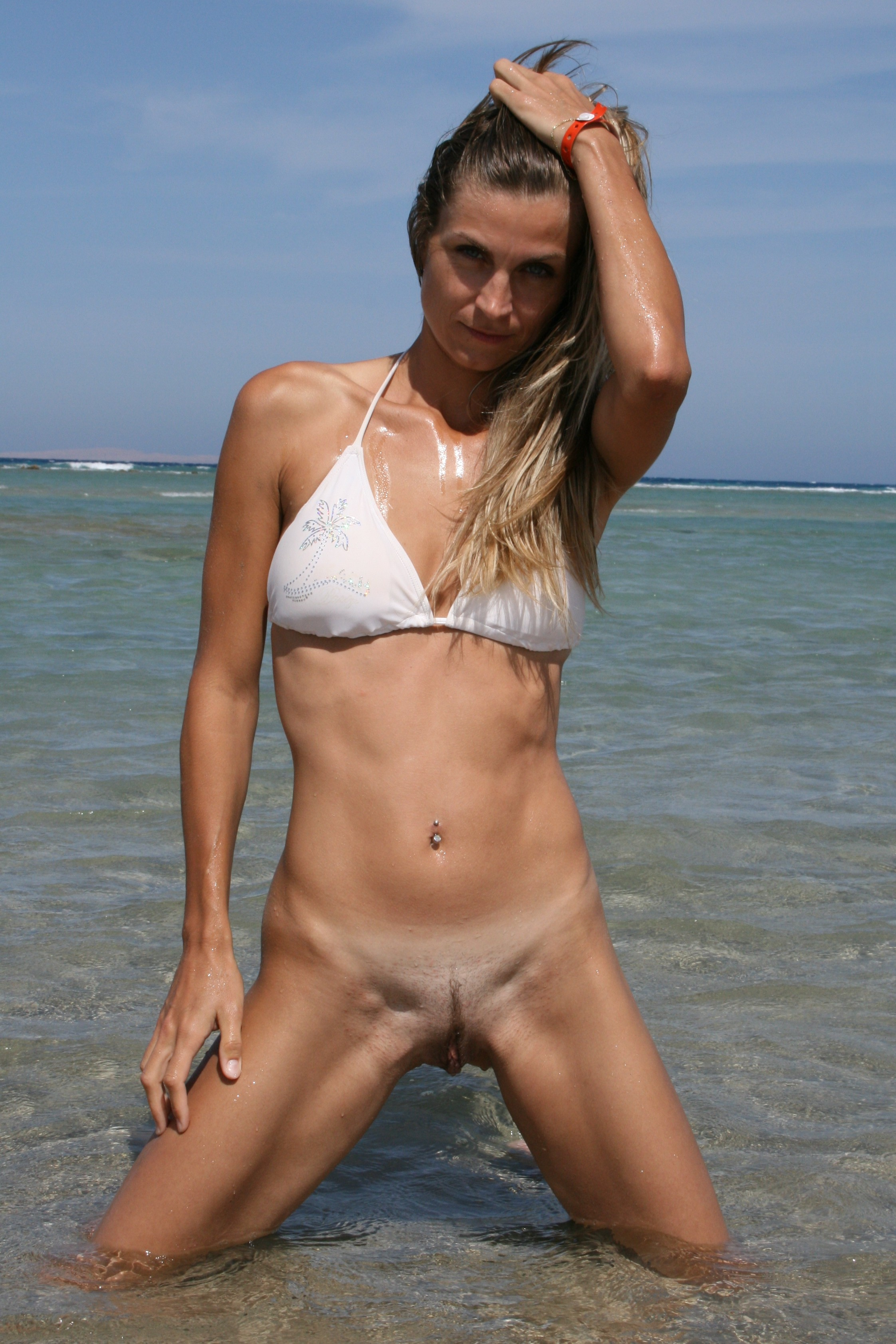 Girls with Painted Bodies in Russian Nudist Beach Porn 52